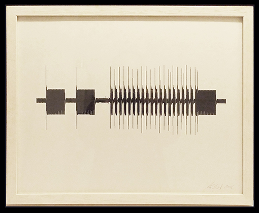 Christina Kubisch - Waveform Print 1 (unique, signed)
