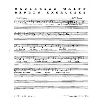 Christian Wolff - Berlin Exercise LP+Booklet 27669