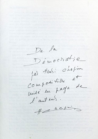 Henri Chopin - Of Democracy / De La Démocratie Book