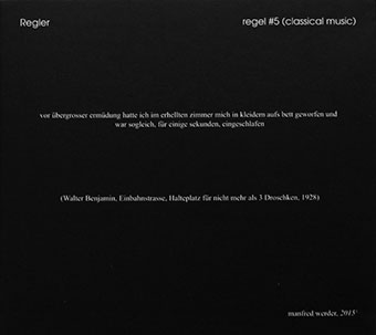 Regler - Regel #5 (Classical Music) CD 27107