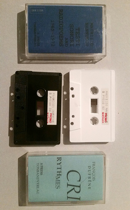 Edition S-Press / various archive tapes for sale